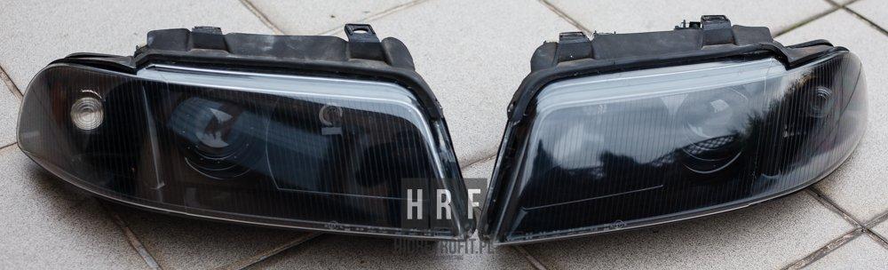 Audi S4 A4 B5 przeróbki lamp na BI XENON LED